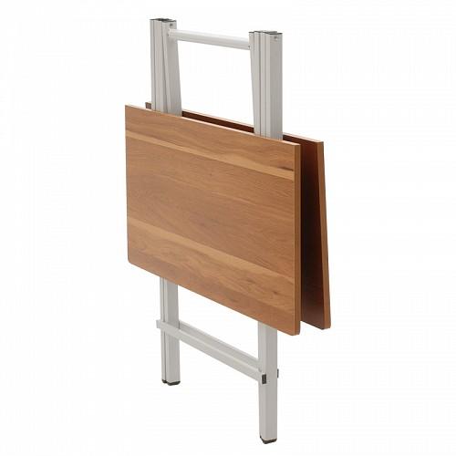 Τραπέζι Burg pakoworld πτυσσόμενο MDF χρώμα κερασί 80x80x75εκ